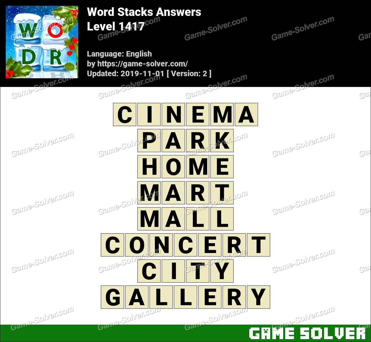 Word Stacks Level 1417 Answers