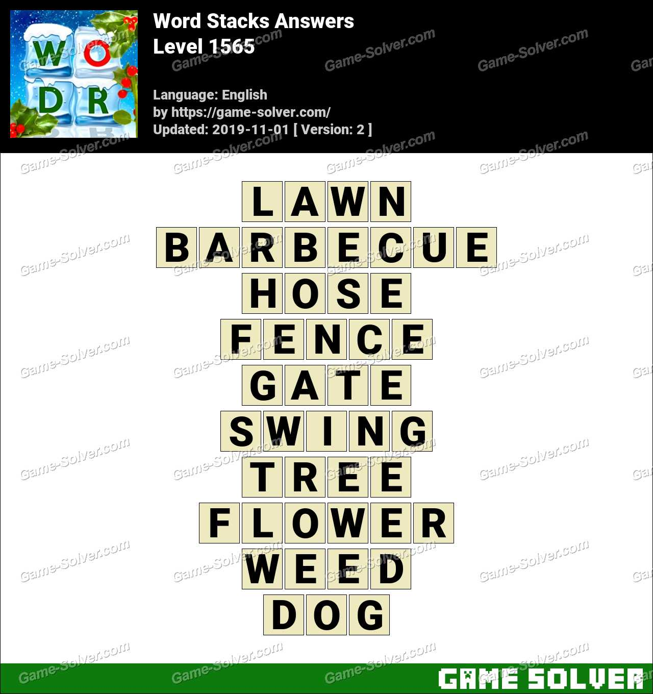 Word Stacks Level 1565 Answers