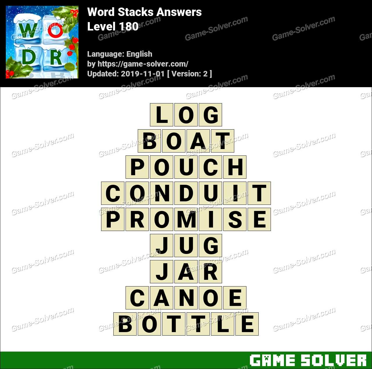 Word Stacks Level 180 Answers