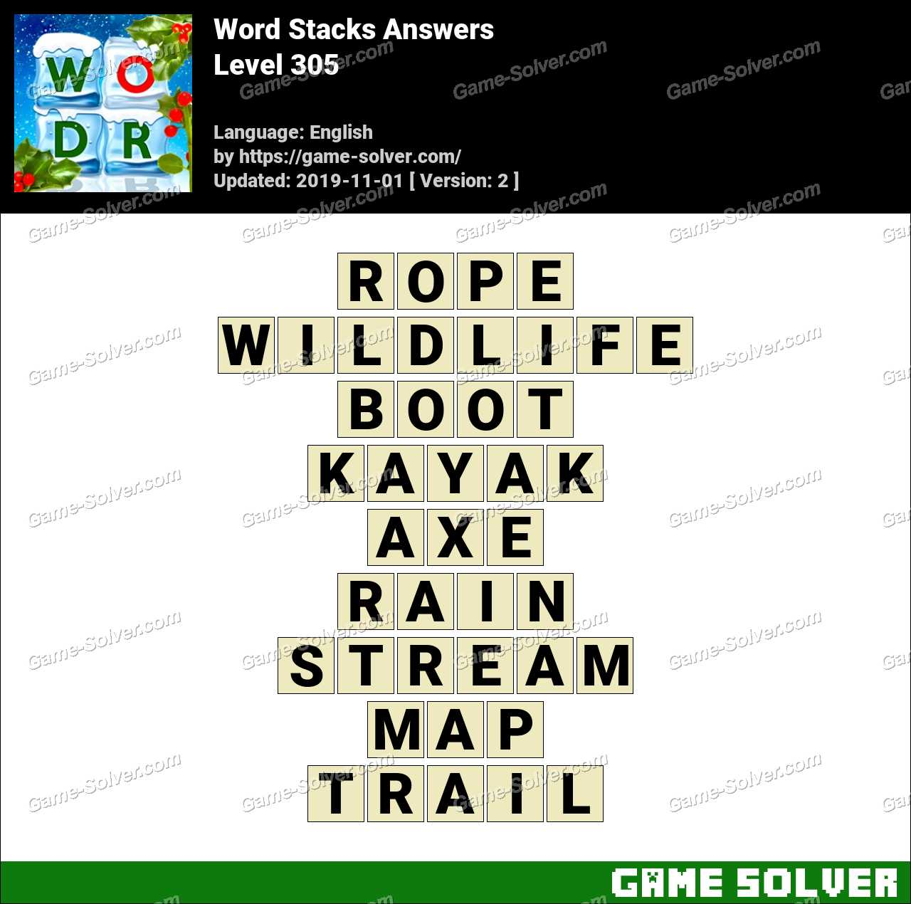 Word Stacks Level 305 Answers