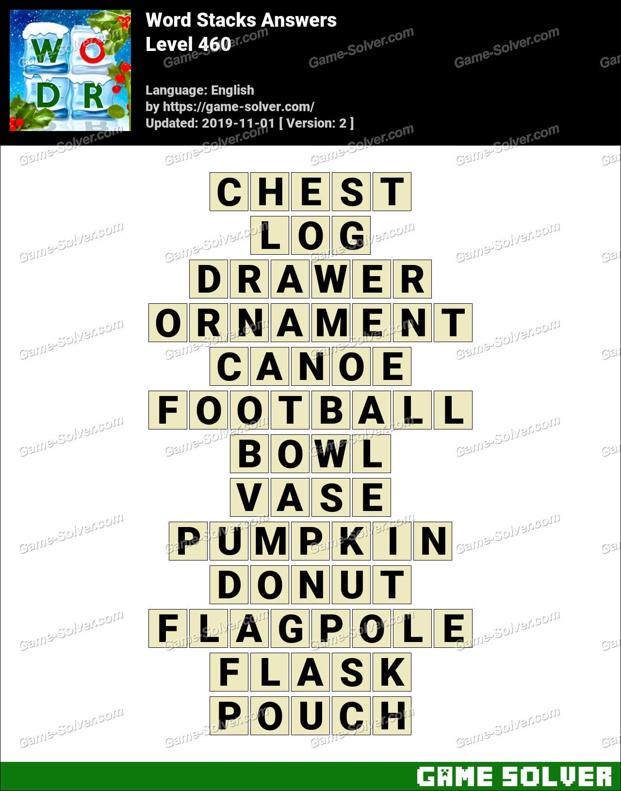 Word Stacks Level 460 Answers