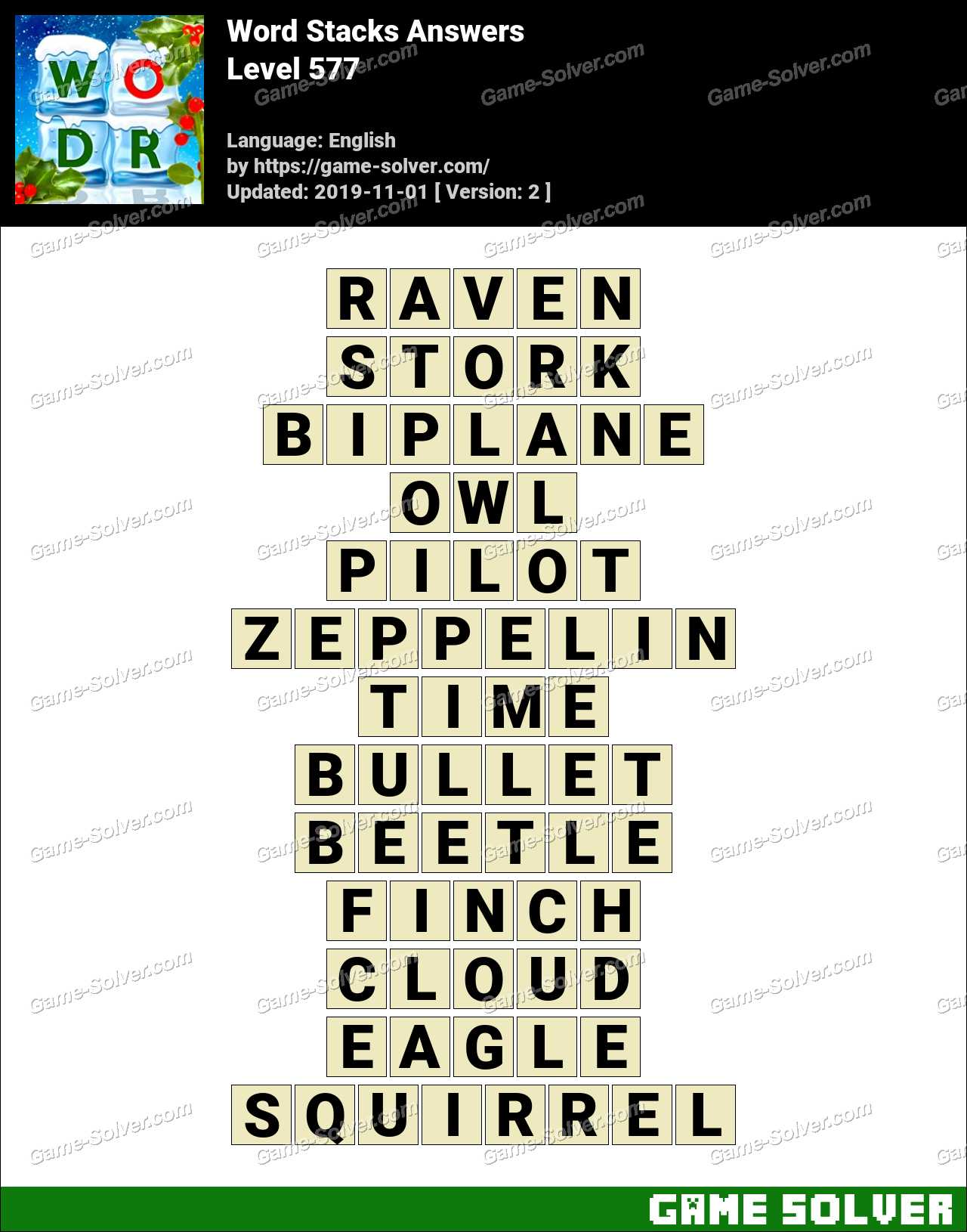 Word Stacks Level 577 Answers