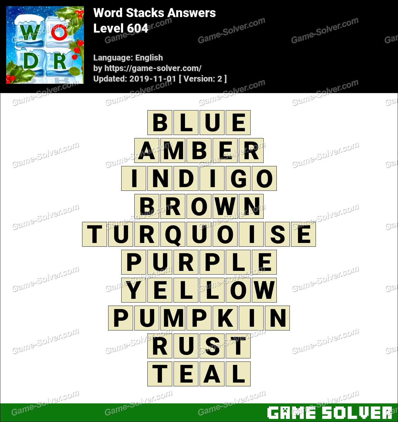 Word Stacks Level 604 Answers