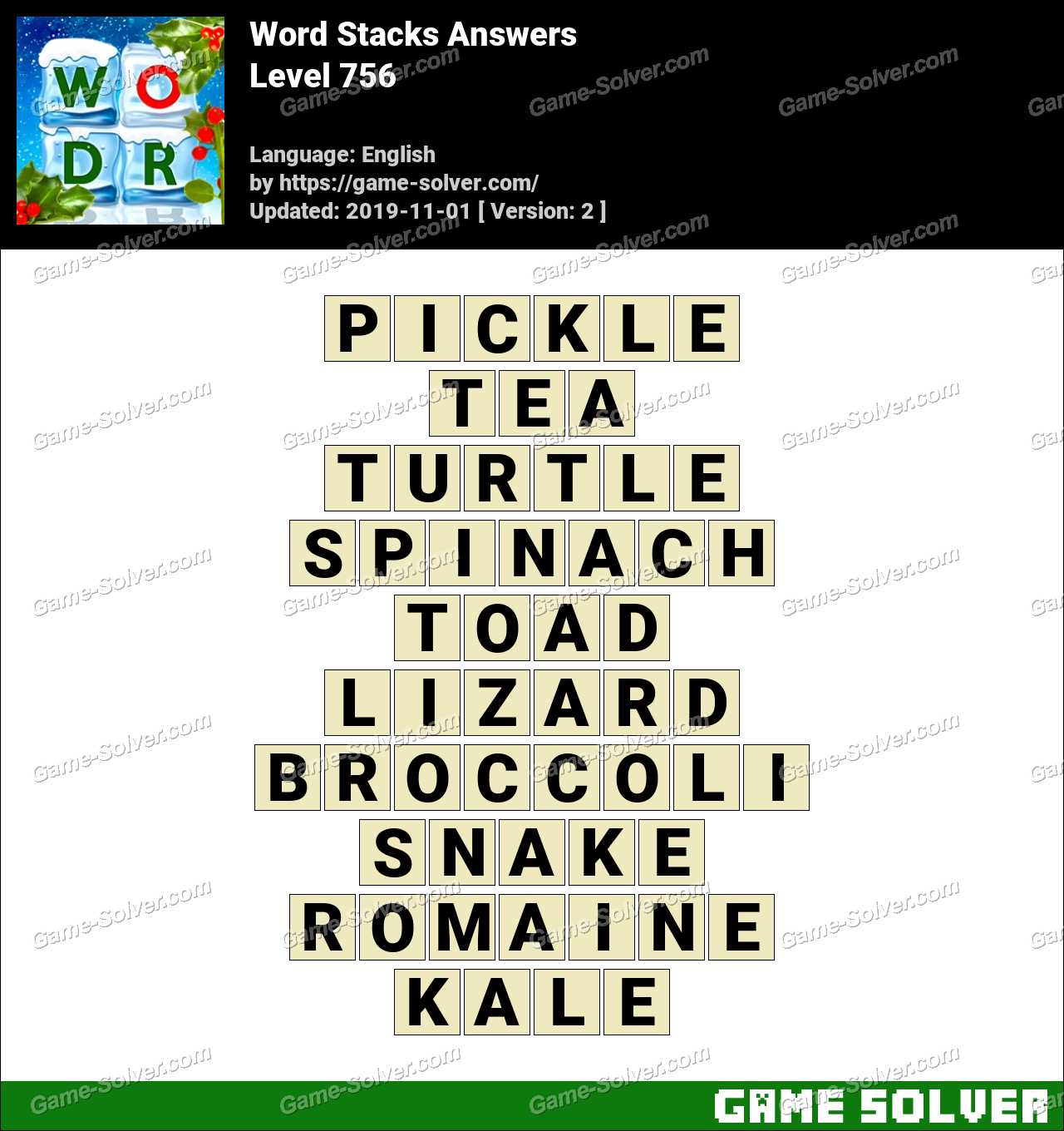 Word Stacks Level 756 Answers