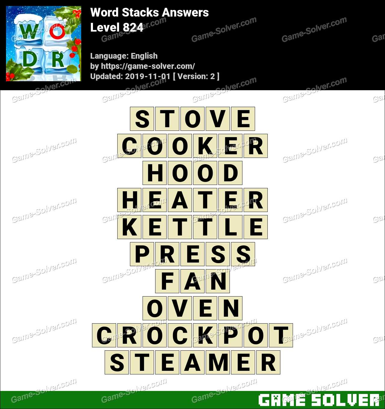 Word Stacks Level 824 Answers