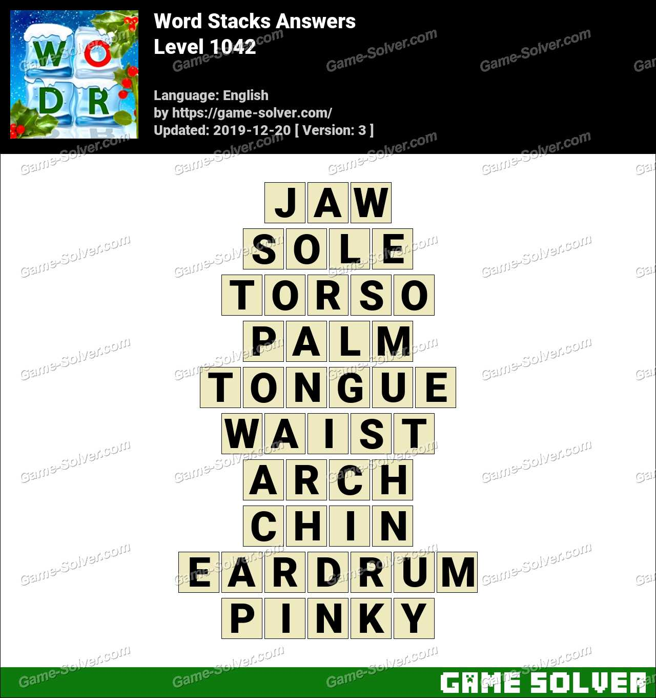 Word Stacks Level 1042 Answers