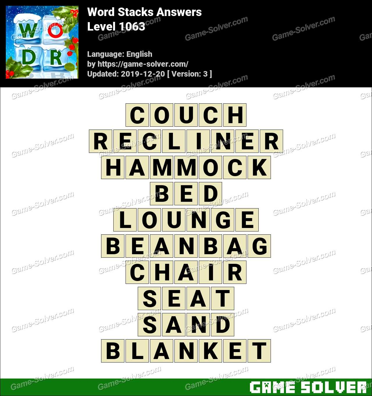 Word Stacks Level 1063 Answers