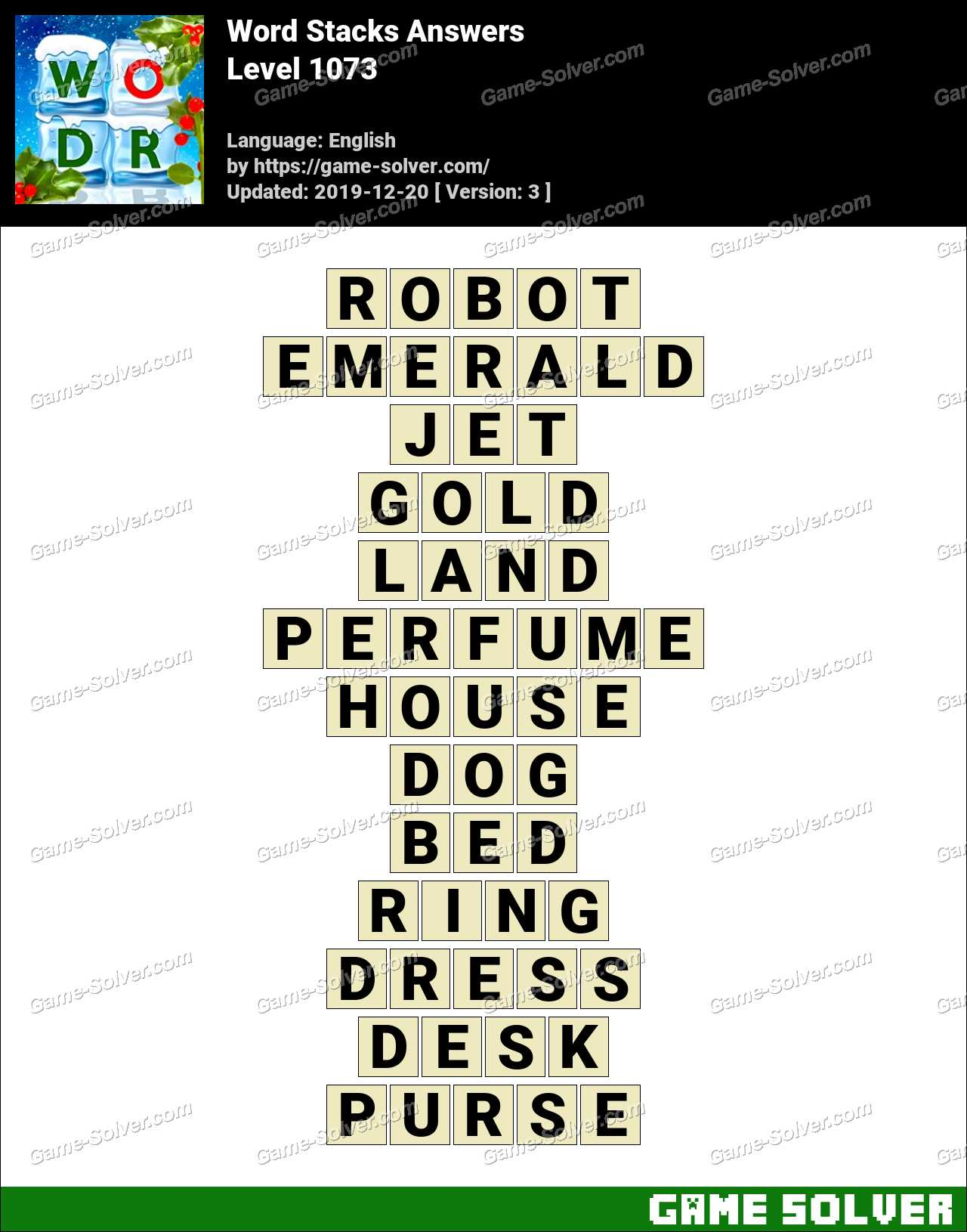 Word Stacks Level 1073 Answers