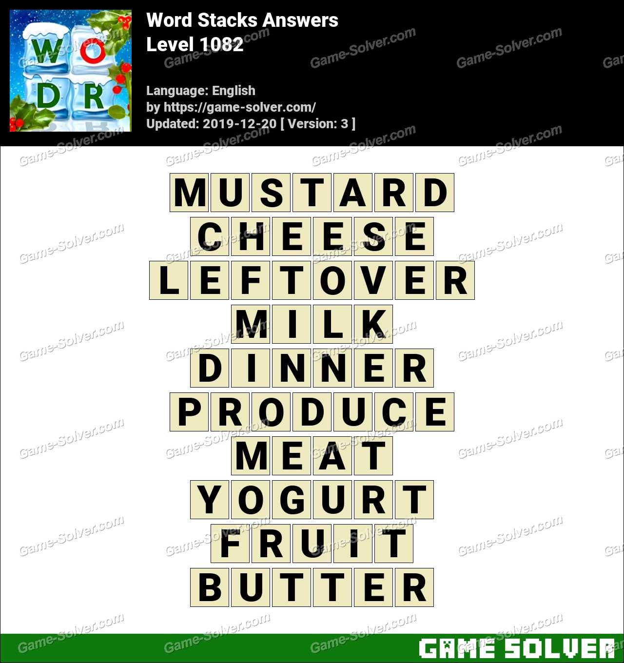 Word Stacks Level 1082 Answers