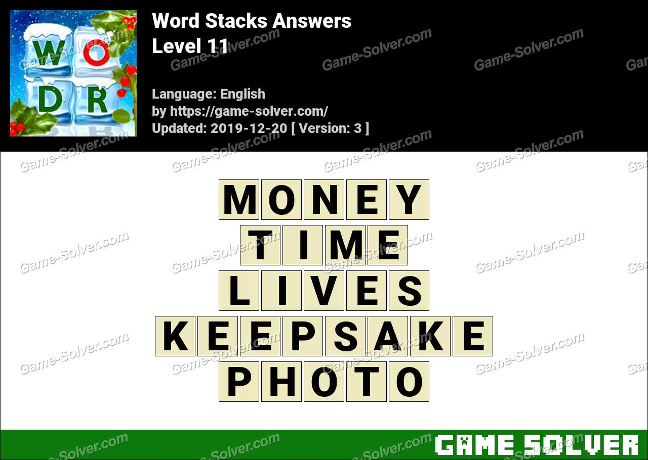 Word Stacks Level 11 Answers