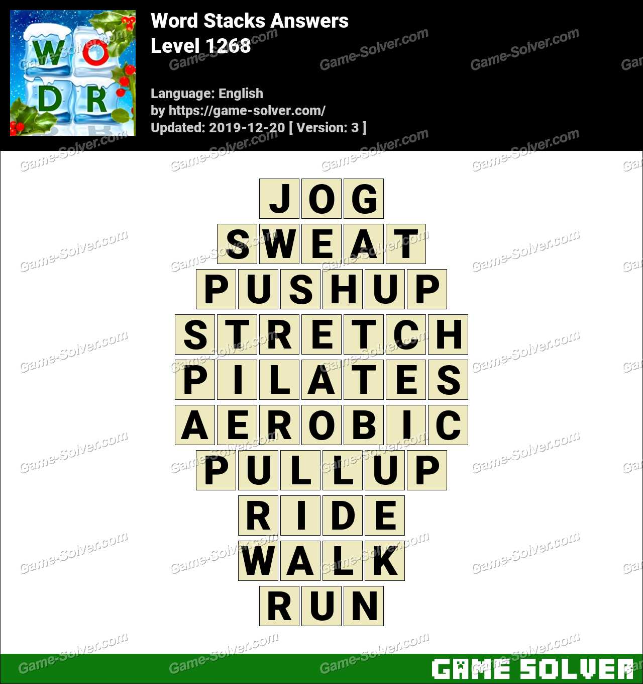 Word Stacks Level 1268 Answers