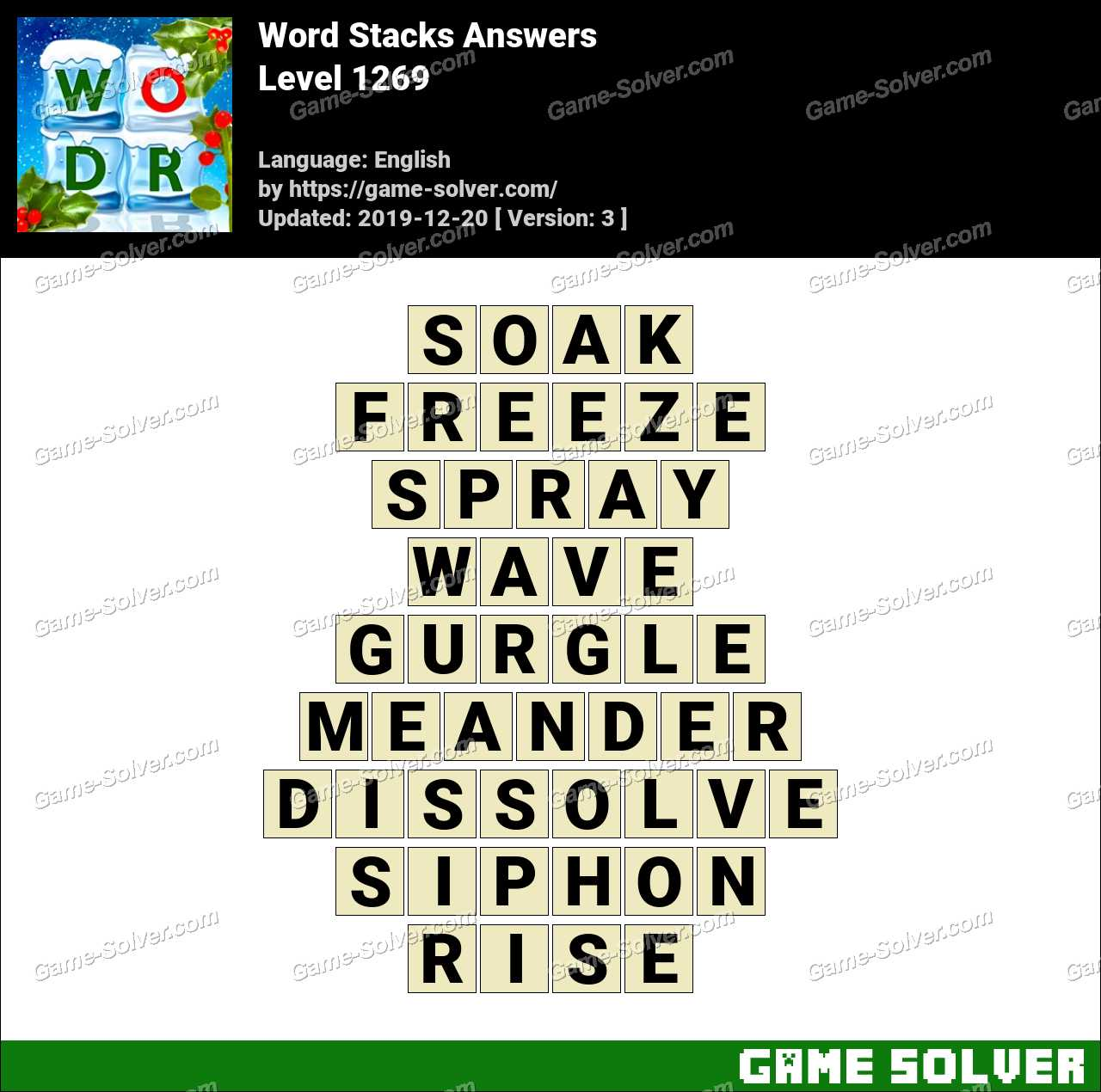 Word Stacks Level 1269 Answers