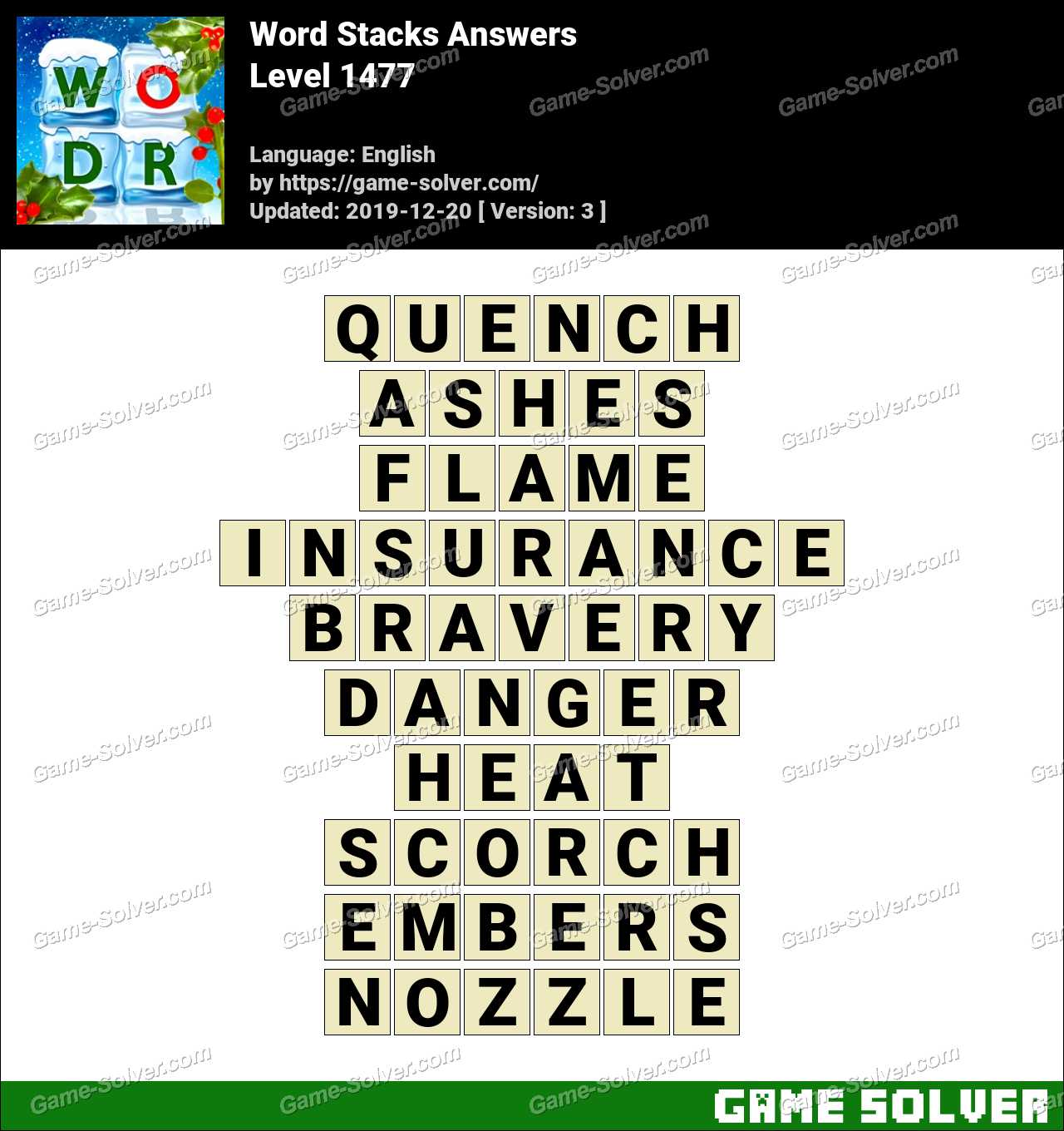 Word Stacks Level 1477 Answers