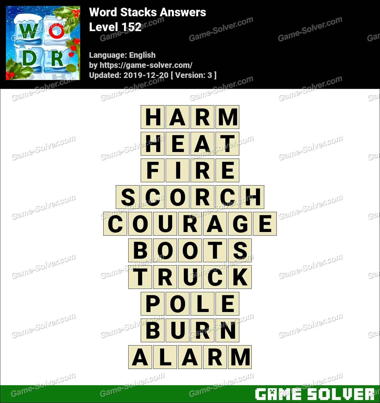Word Stacks Level 152 Answers