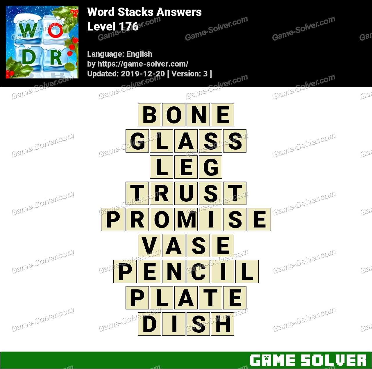 Word Stacks Level 176 Answers