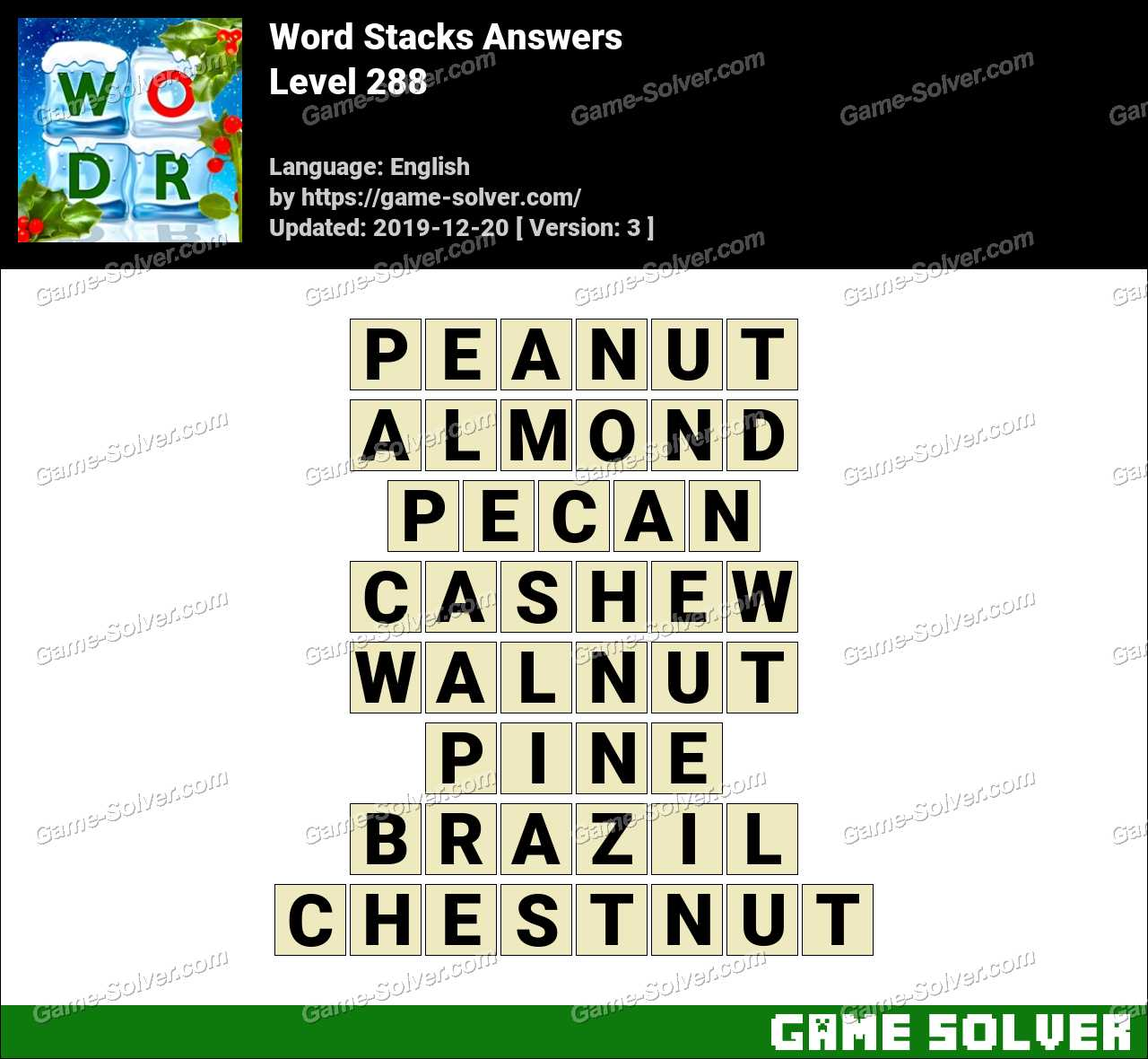 Word Stacks Level 288 Answers