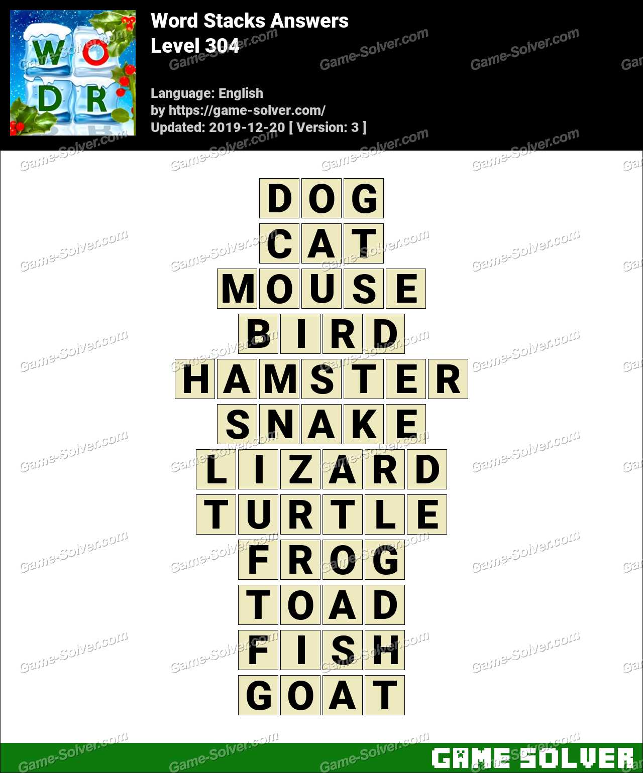 Word Stacks Level 304 Answers