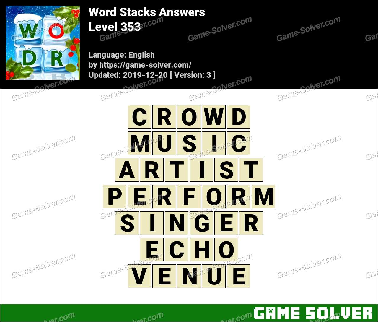 Word Stacks Level 353 Answers