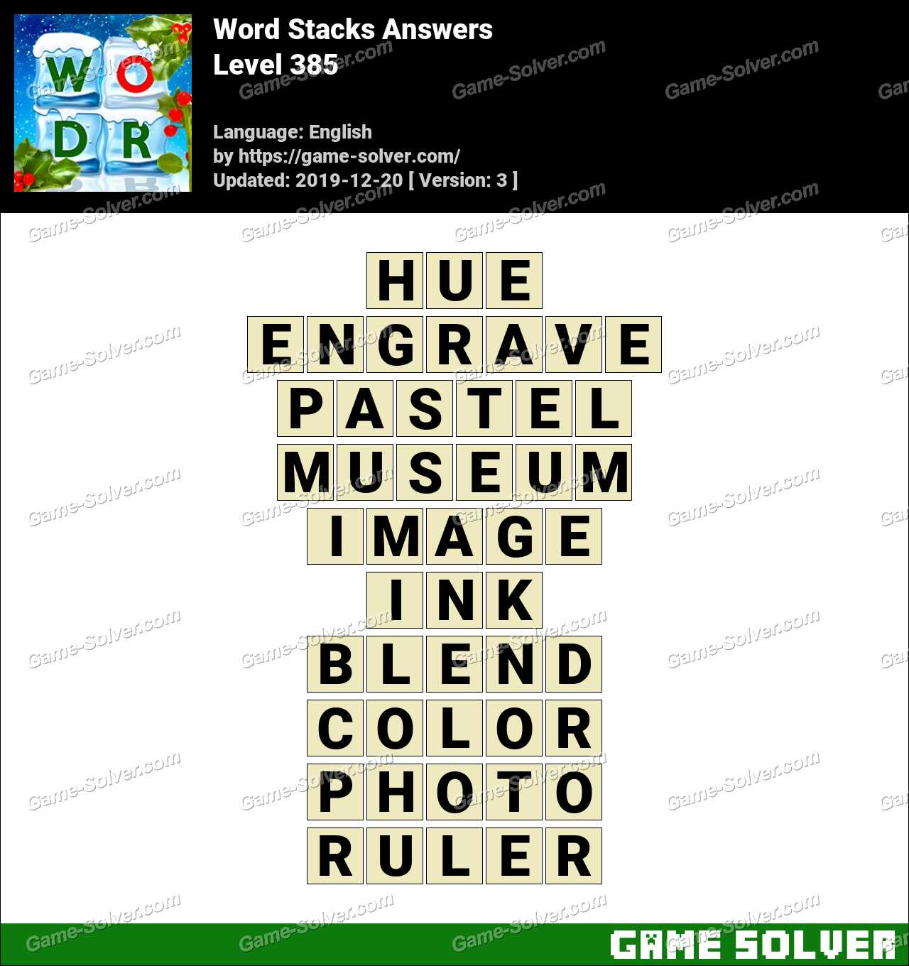 Word Stacks Level 385 Answers