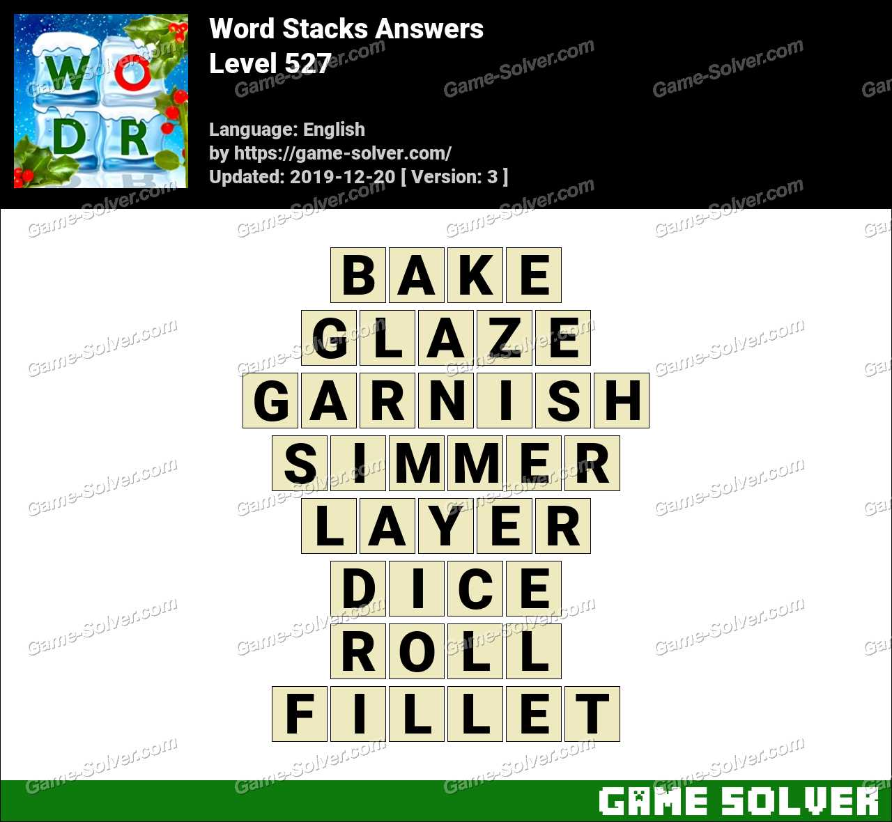 Word Stacks Level 527 Answers