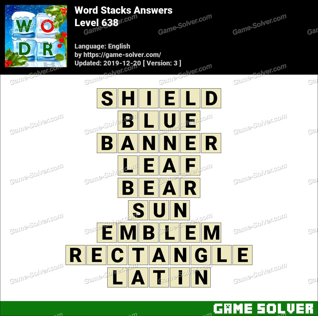 Word Stacks Level 638 Answers
