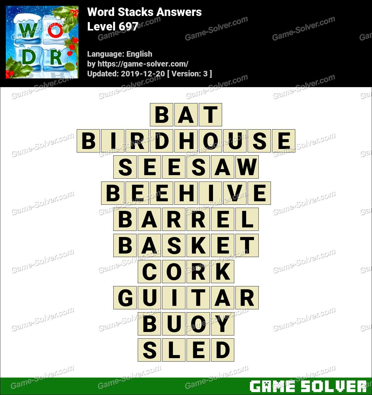Word Stacks Level 697 Answers
