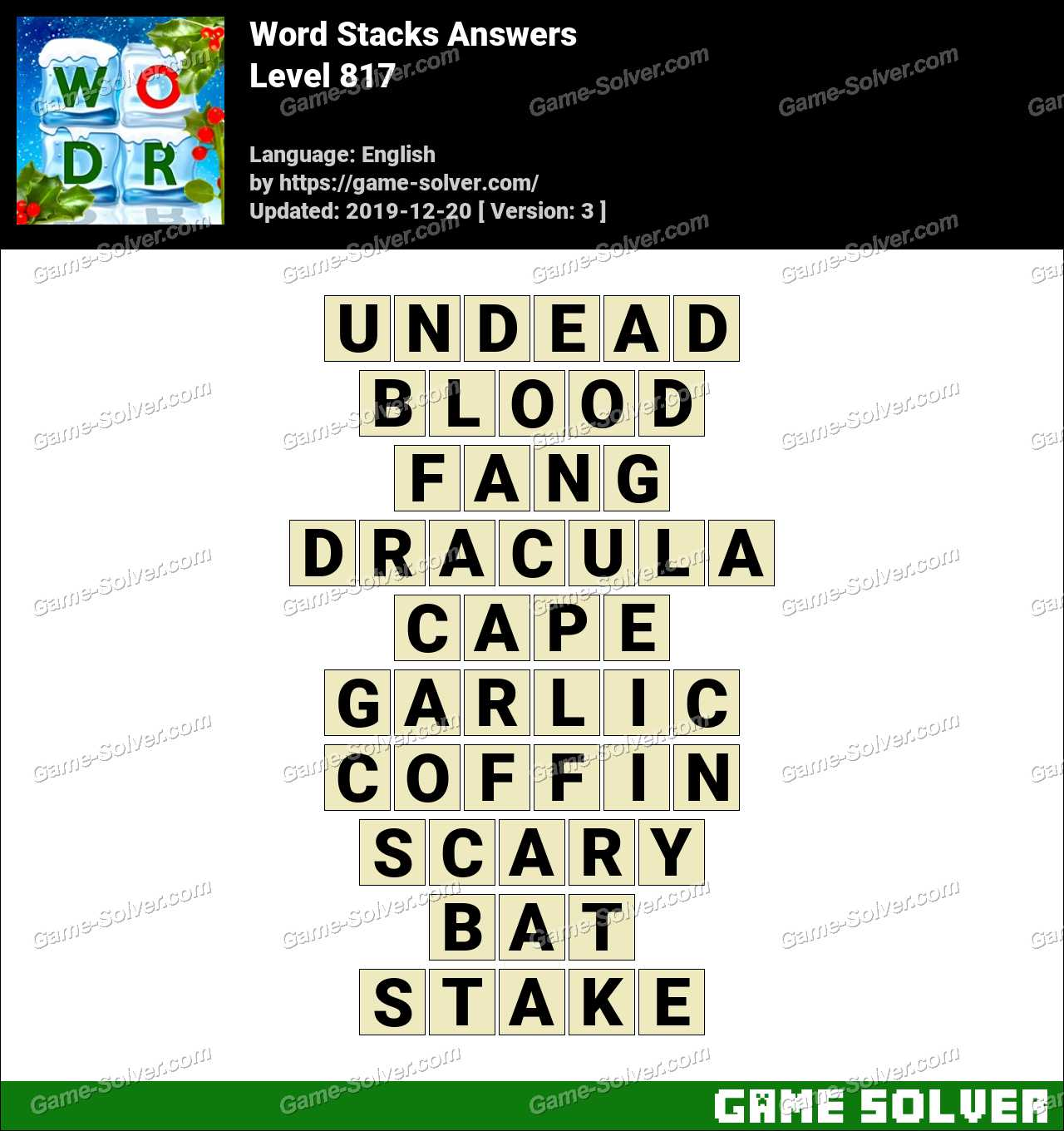 Word Stacks Level 817 Answers