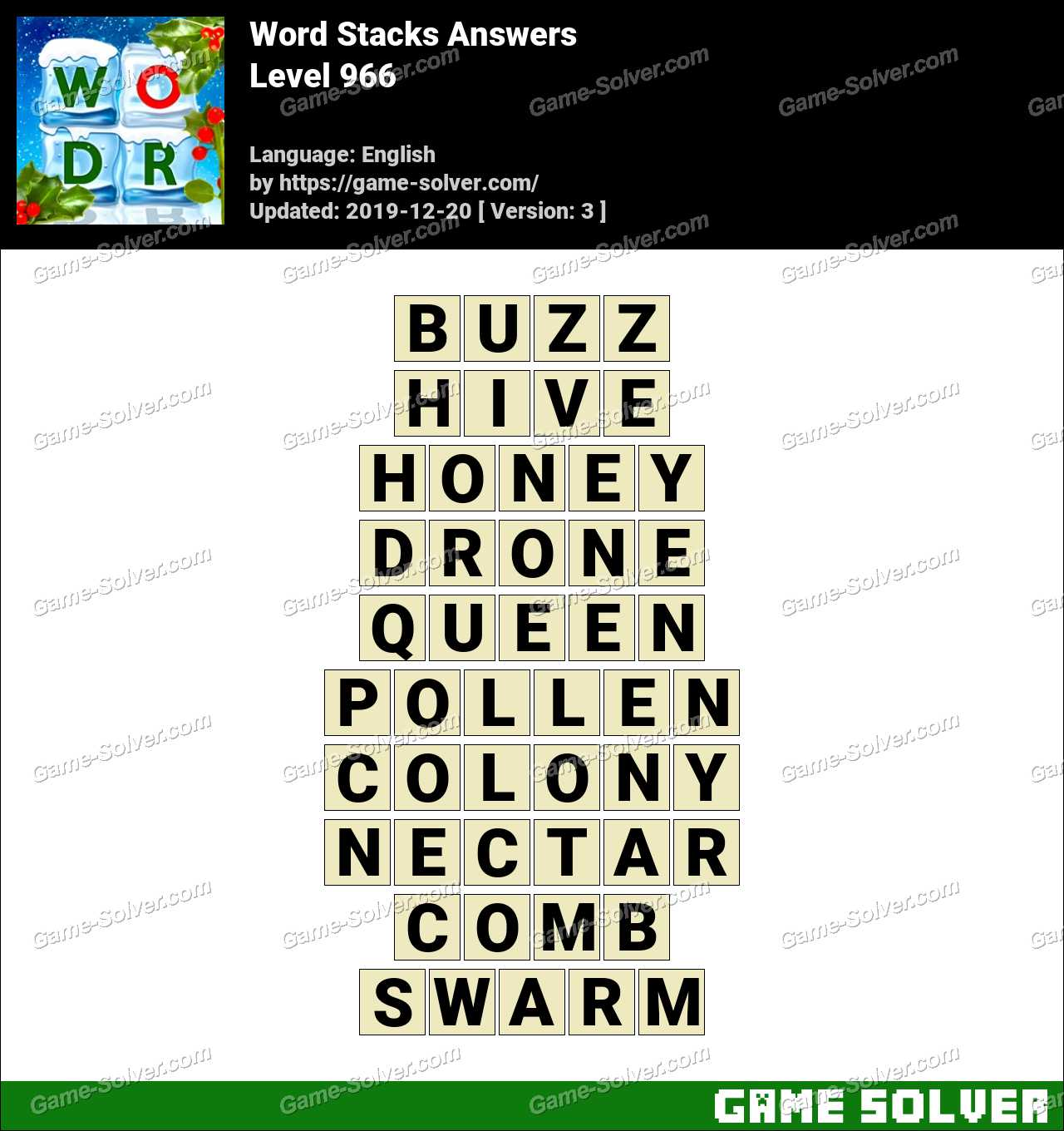 Word Stacks Level 966 Answers