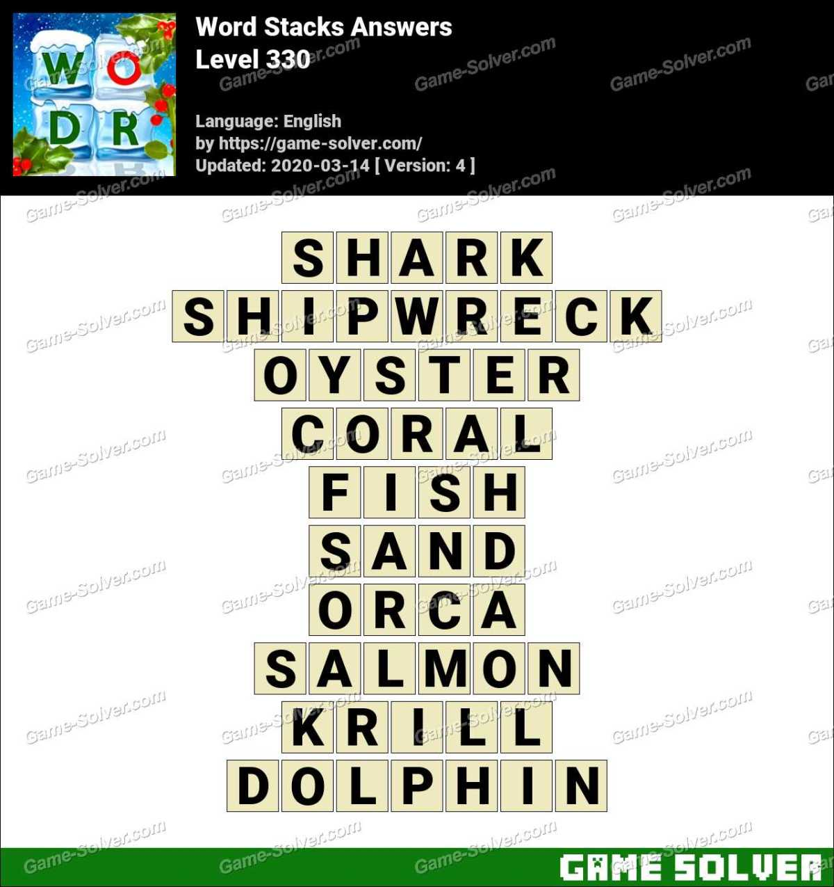 Word Stacks Level 330 Answers