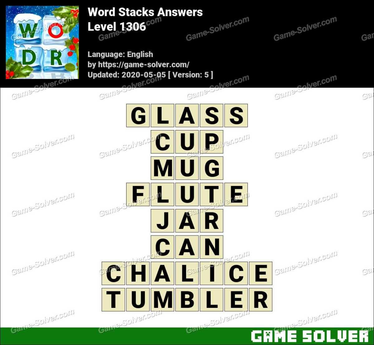Word Stacks Level 1306 Answers