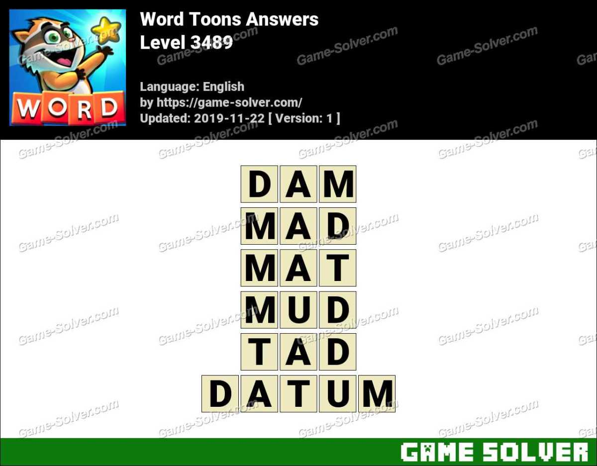 Word Toons Level 3489 Answers