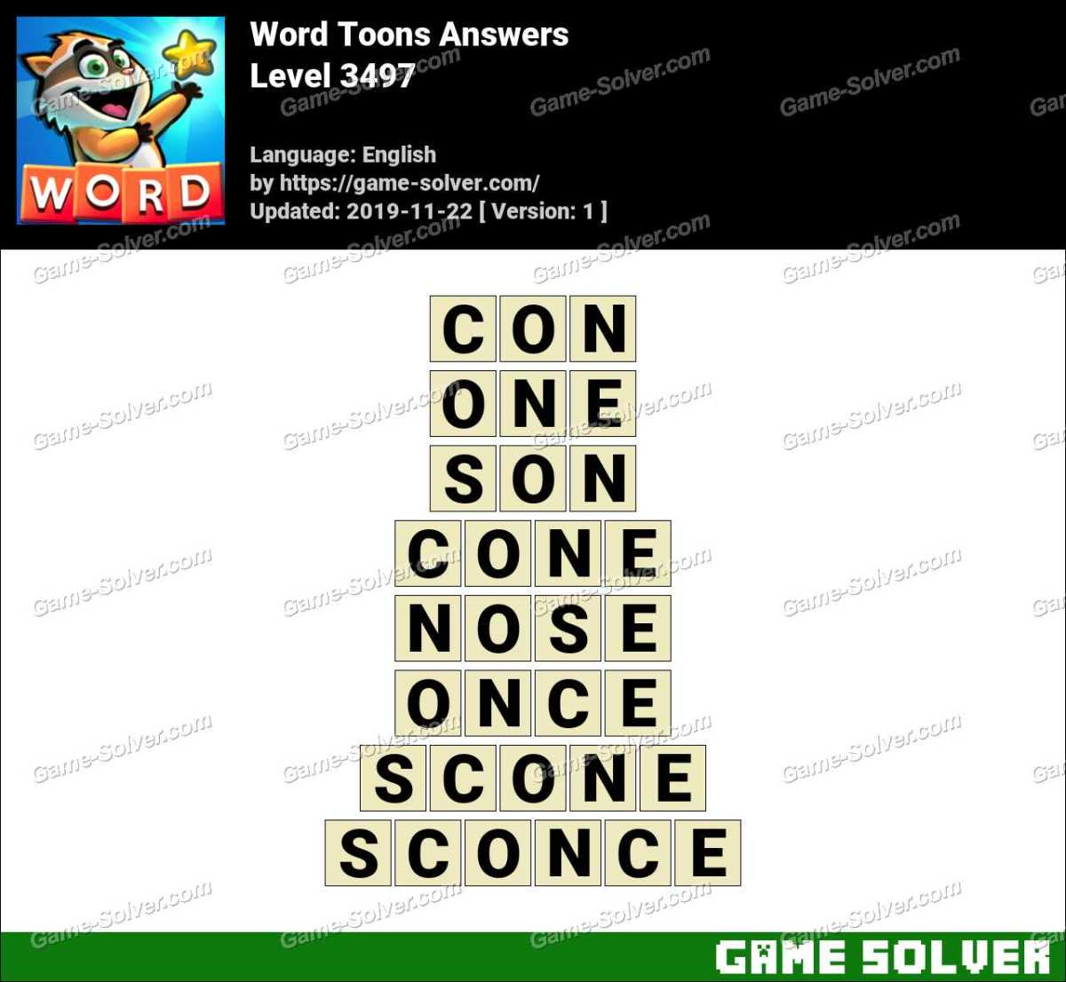 Word Toons Level 3497 Answers