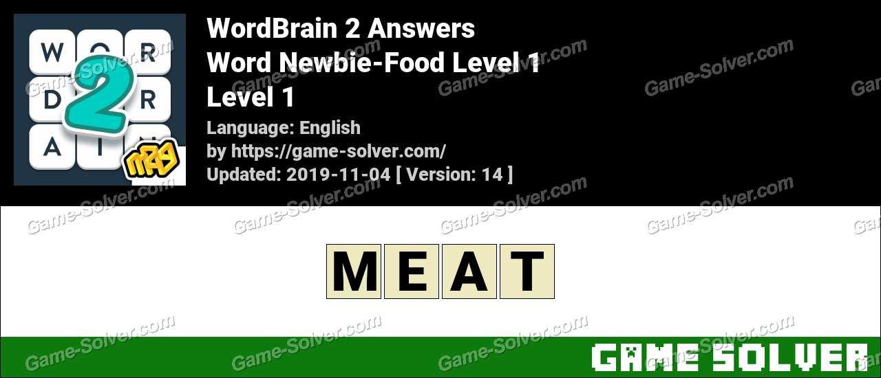 Word Newbie-Food Level 1 Answers