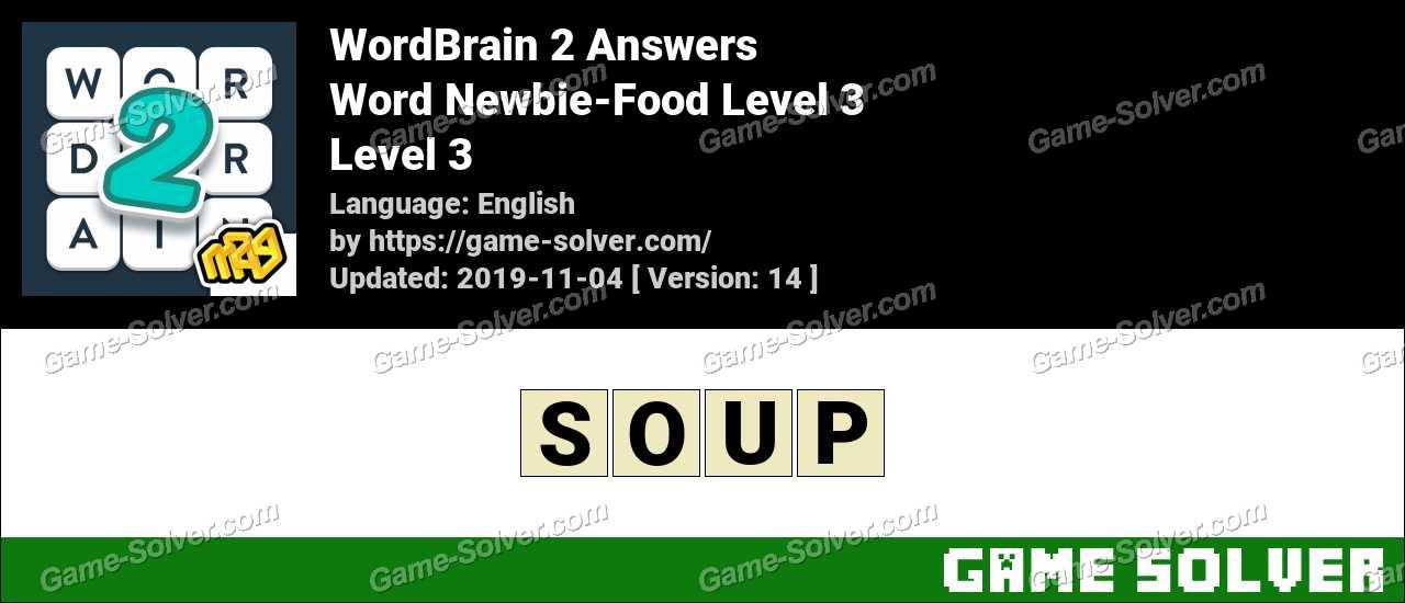 Word Newbie-Food Level 3 Answers