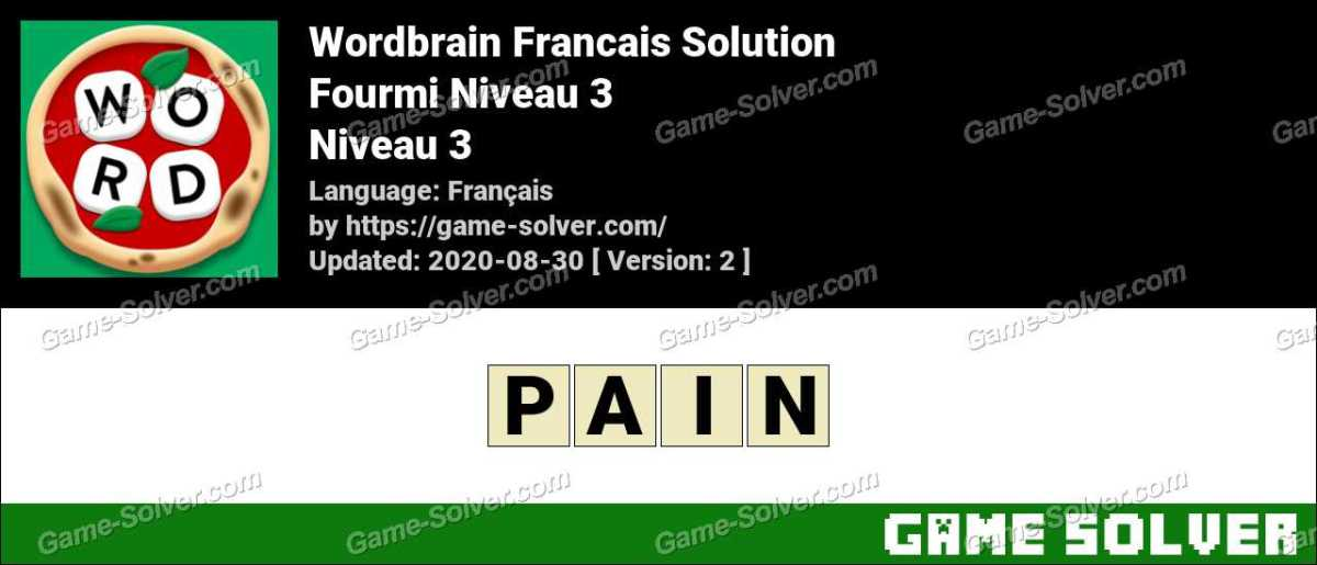 WordBrain Français Fourmi Niveau 3
