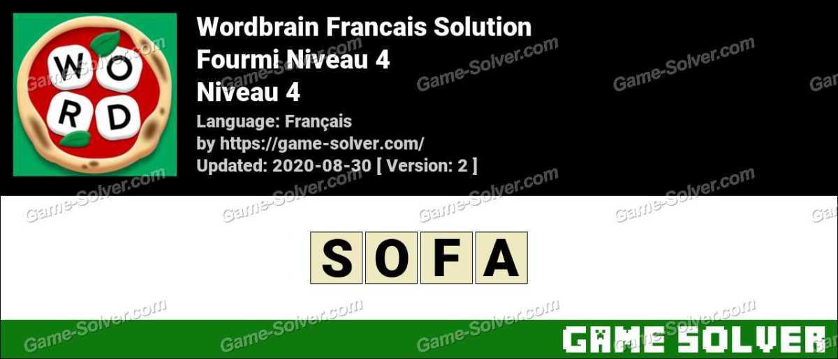 WordBrain Français Fourmi Niveau 4