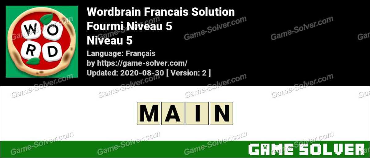 WordBrain Français Fourmi Niveau 5