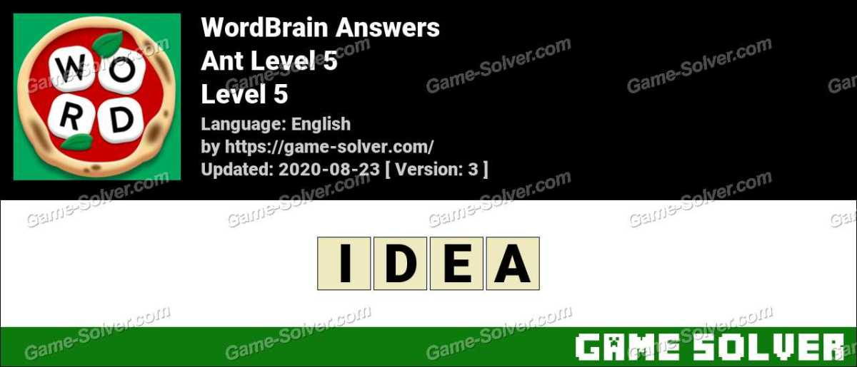 WordBrain Ant Level 5 Answers