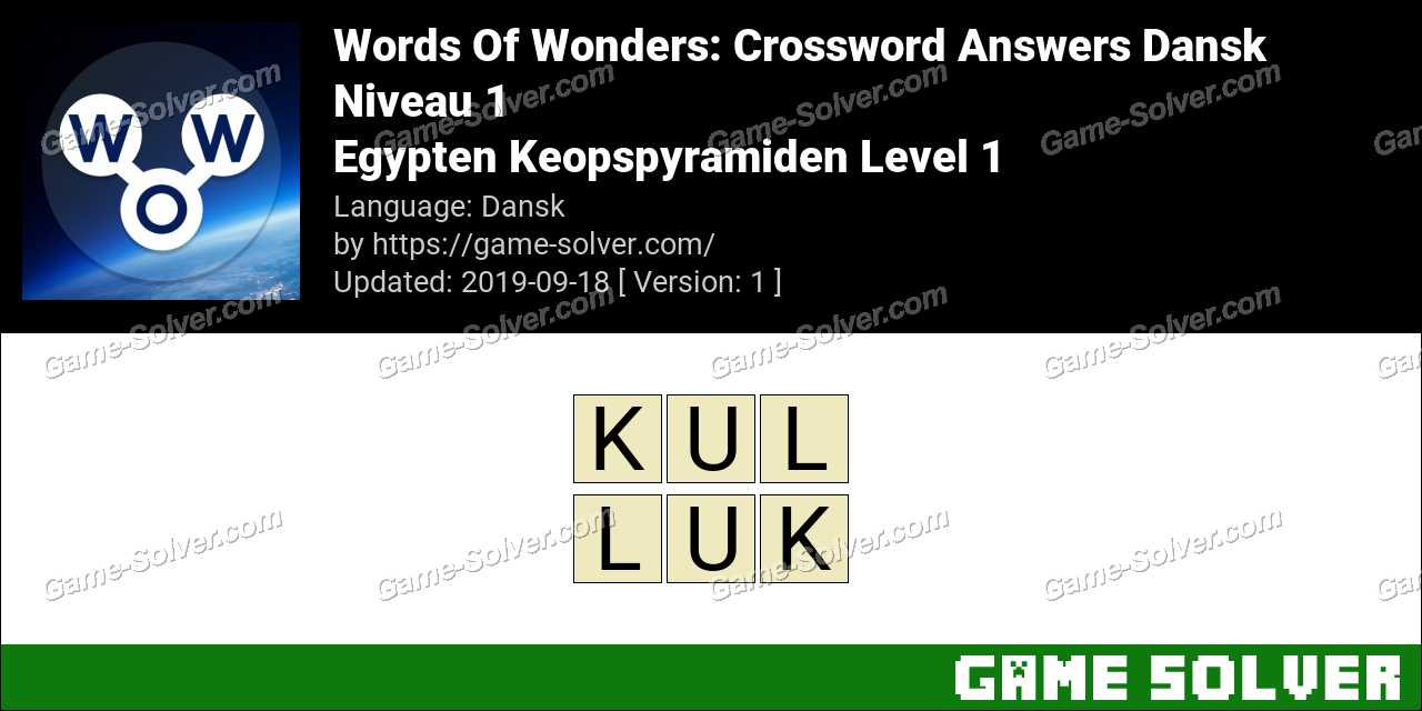 Words Of Wonders Egypten Keopspyramiden Level 1 Answers