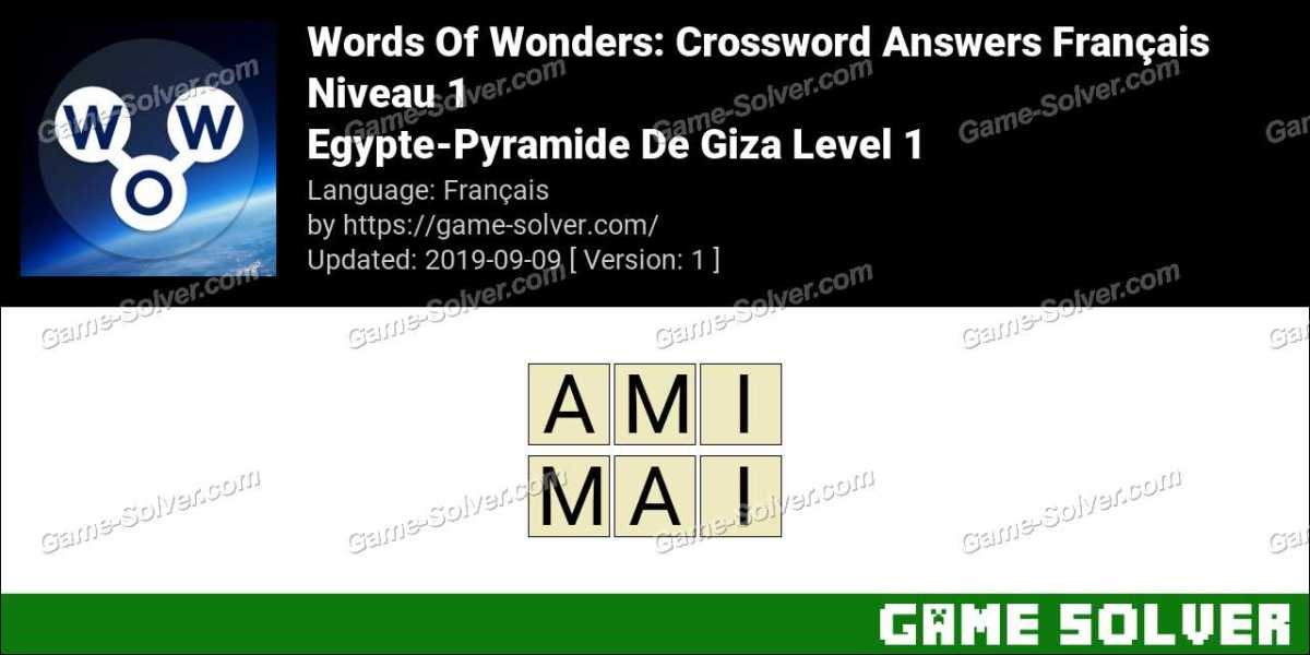Words Of Wonders Egypte-Pyramide De Giza Level 1 Answers