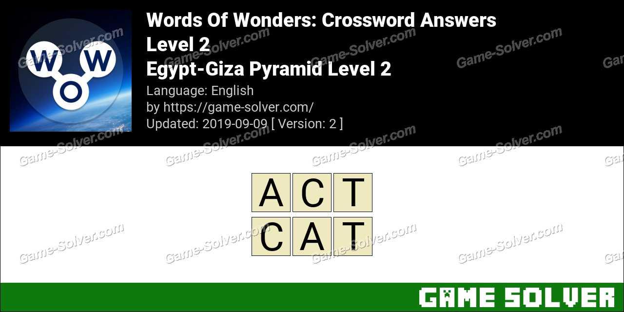 Words Of Wonders Egypt-Giza Pyramid Level 2 Answers