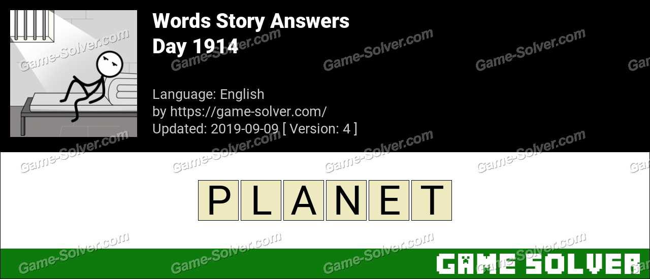 Words Story Day 1914 Answers