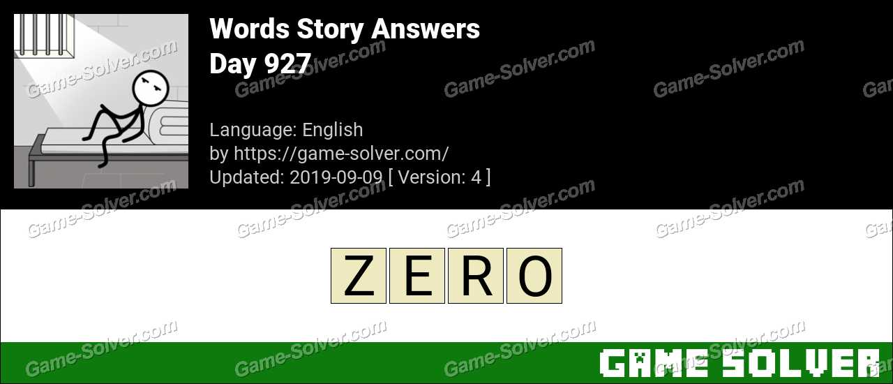 Words Story Day 927 Answers