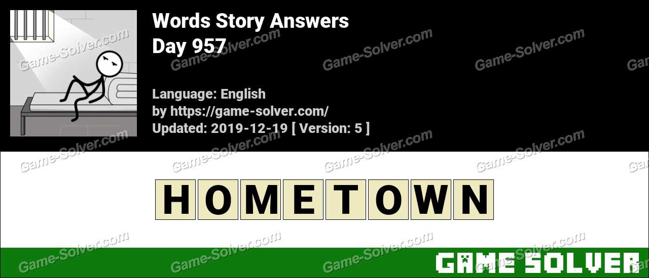 Words Story Day 957 Answers