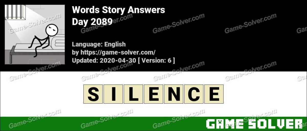 Words Story Day 2089 Answers