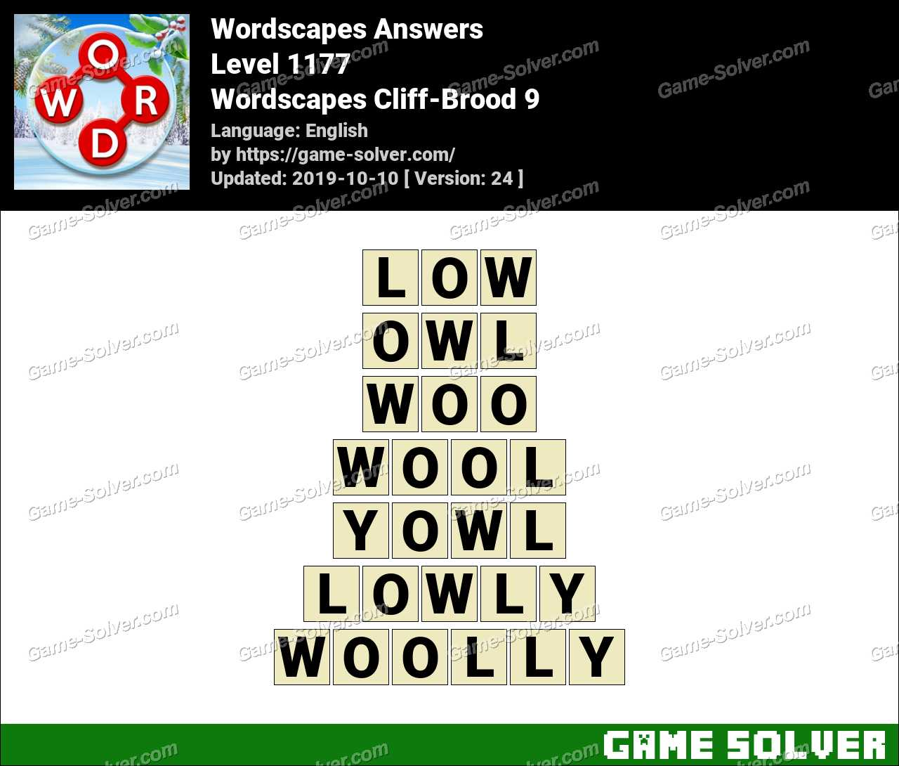 Wordscapes Cliff-Brood 9 Answers