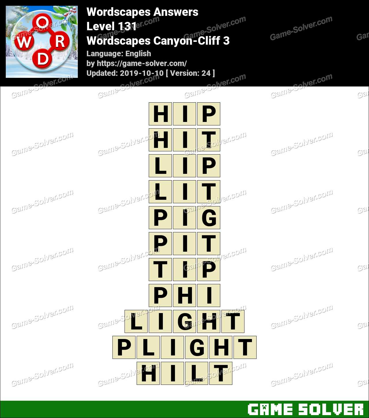 Wordscapes Canyon-Cliff 3 Answers
