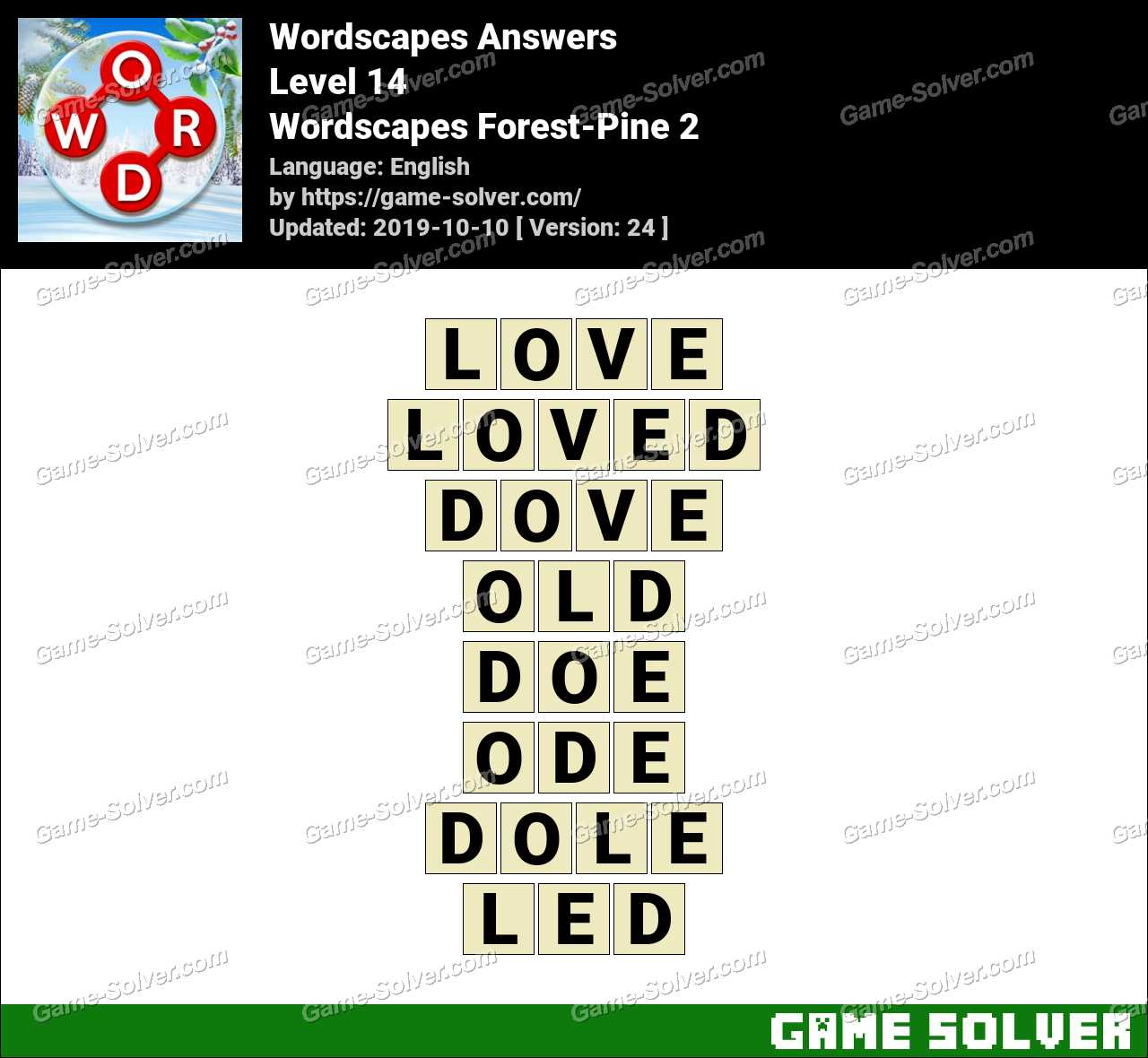 Wordscapes Forest-Pine 2 Answers