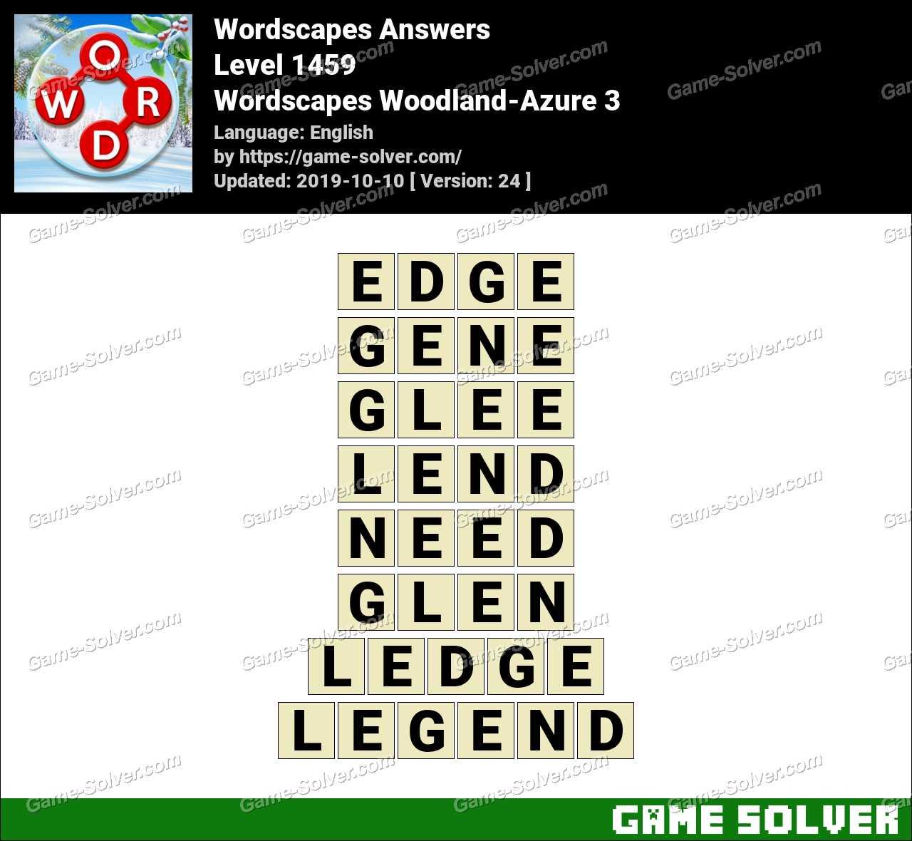 Wordscapes Woodland-Azure 3 Answers