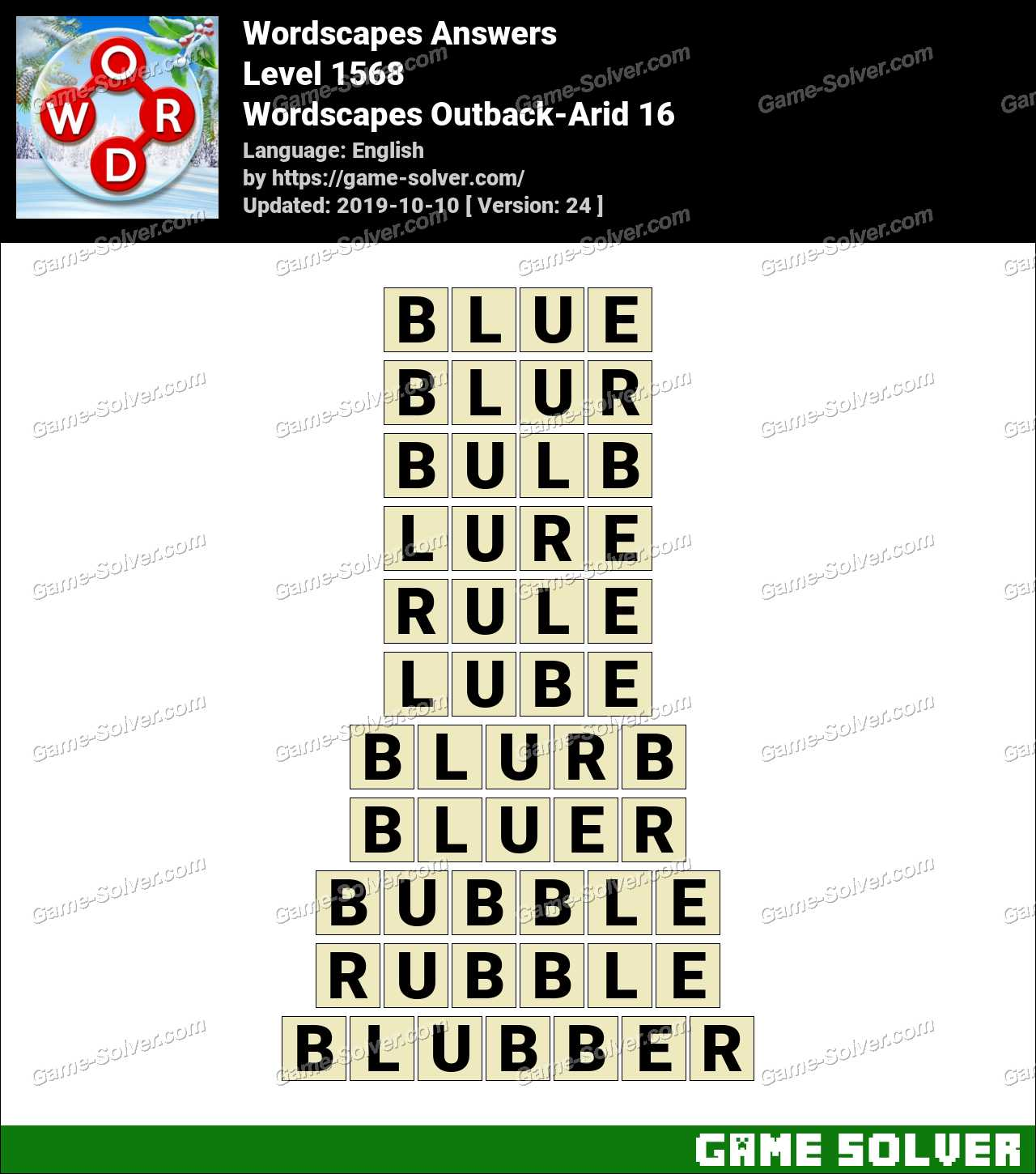 Wordscapes Outback-Arid 16 Answers